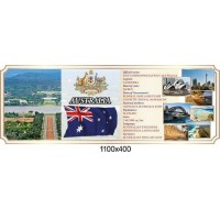 Стенд оформление кабинета английского языка Австралия