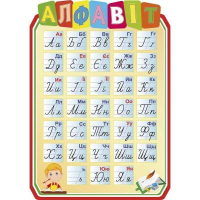 Стенд Алфавит (цвет бежевый)
