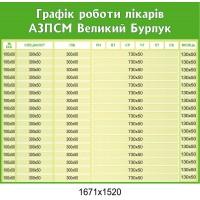 Стенд Графік роботи лікарів