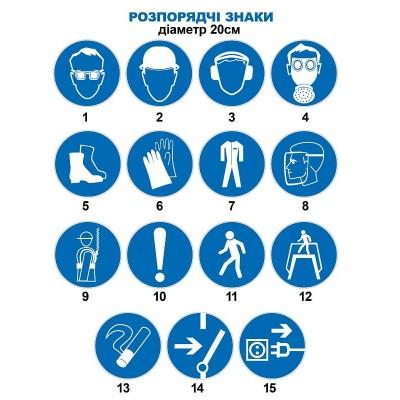 Предписывающие знаки, диаметр 20 см