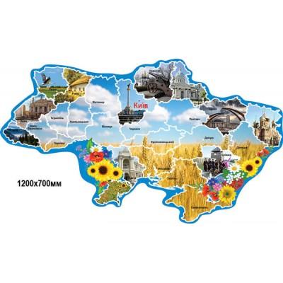 Стенд Карта Украины Золотая пшеница