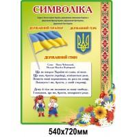 Стенд Символика Украинцы зеленый цвет