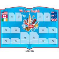 Стенд Книга для кабинета по английскому языку