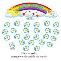 Комплект для выставки детских рисунков Ромашки (голубой цвет)
