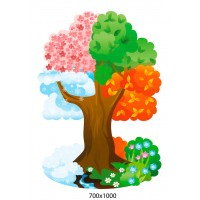 Стенд сезоны года в виде дерева