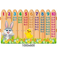 Стенд Состав числа Цветной забор