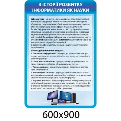 Стенд История информатики (голубой)