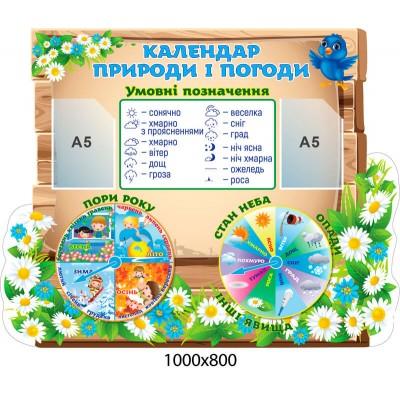 Стенд Календар природи і погоди з умовними позначеннями