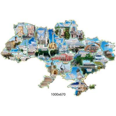 Стенд Карта Украины (фигурная)