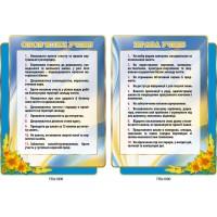 Комплект стендов Права учеников, обязанности учеников подсолнечник (цвет голубой)