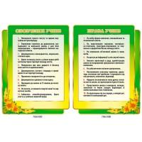 Комплект стендов Права учеников, обязанности учеников подсолнечник (цвет зеленый)