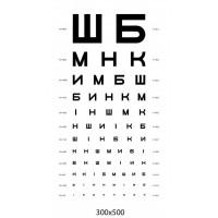 Стенд таблица Сивцева (для проверки зрения)