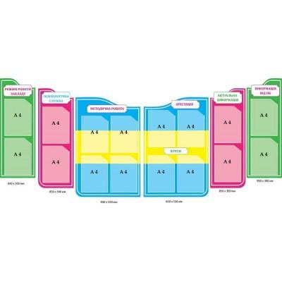 Набор стендов для входной зоны школы или ДОУ