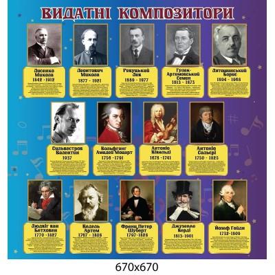 Стенд видатні композитори