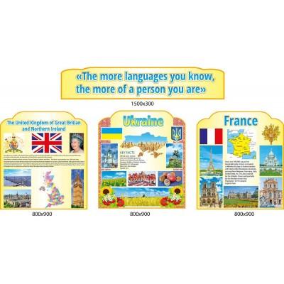 Набір з 4 стендів для кабінету англійської мови Інформація