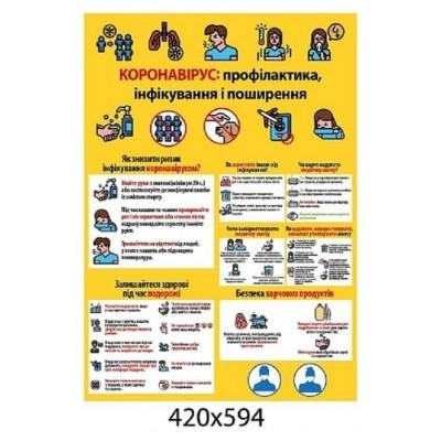Плакат Коронавирус профилактика инфицирования и распространения