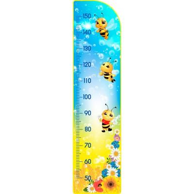 Стенд Ростометр Пчелки желто-голубой цвет