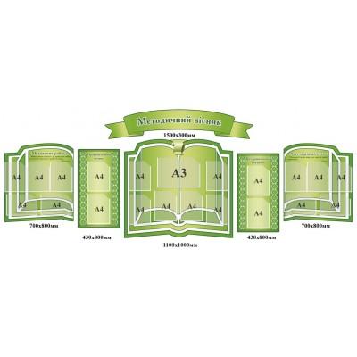 Комплект стендів Методичний вісник (в зеленому кольорі)