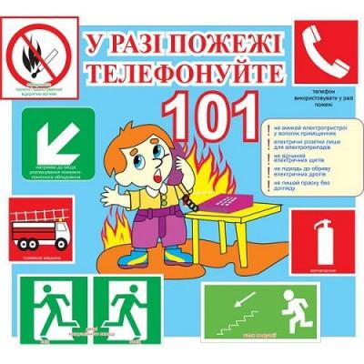 Стенд Уголок пожарной безопасности детский