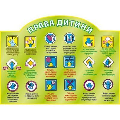Стенд Права ребенка (зеленый фон)