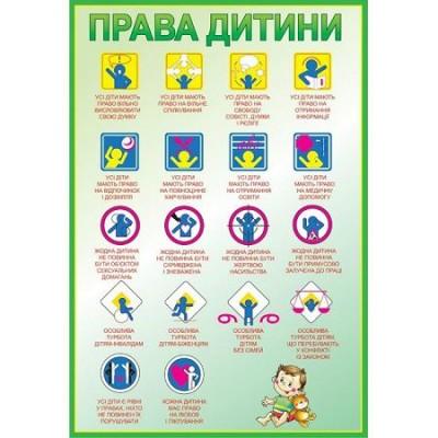 Стенд Права ребенка (зеленый контур)