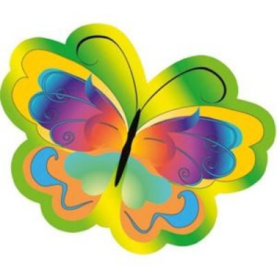 Крепление под магнит Бабочка цветная