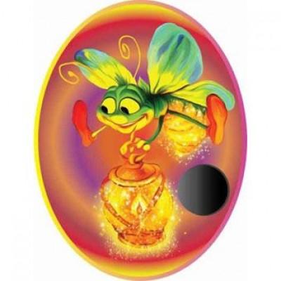Крепление под магнит Пчелка на цветном фоне