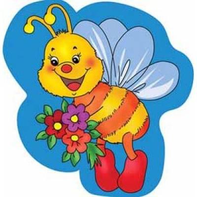 Стенд с изображением пчелки