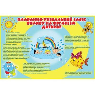 Стенд Физкультура и спорт (желто-синий)