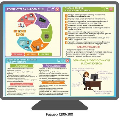 Стенд Компьютер и информация (цветной)
