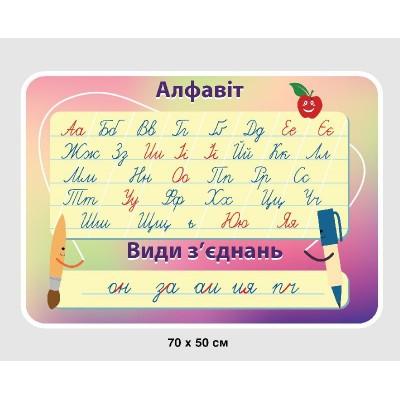 Стенд Алфавит (на цветном фоне)