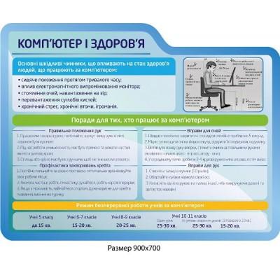Стенд Компьютер и здоровье (синий)