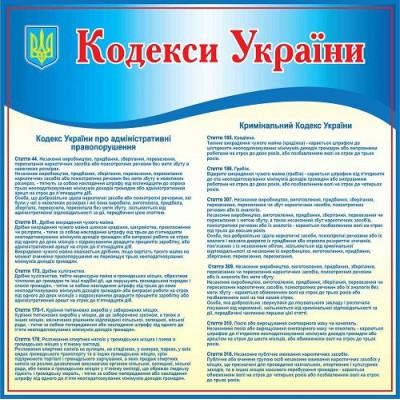 Стенд Кодекс Украины