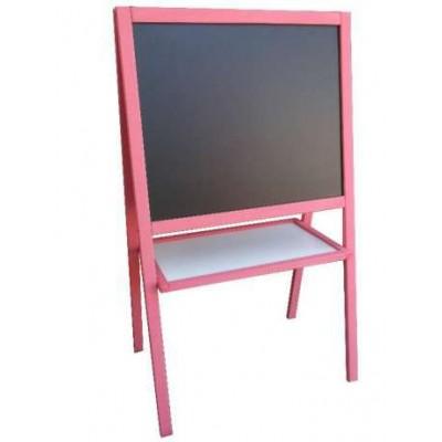 Мольберт двухсторонний (розовая рамка)