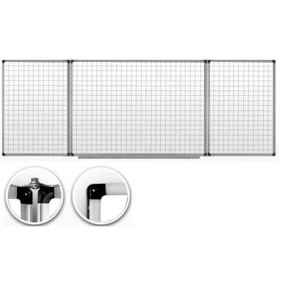 Доска маркерная в клетку 120х300 см