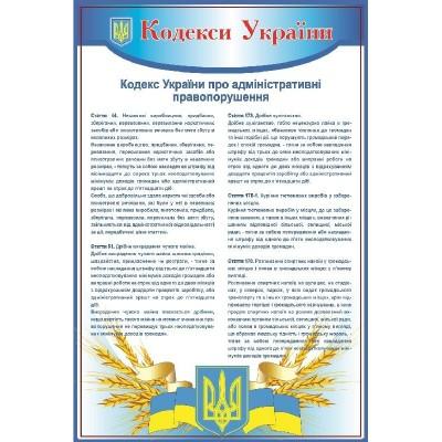 Стенд Кодексы Украины об административных правонарушениях (синий)