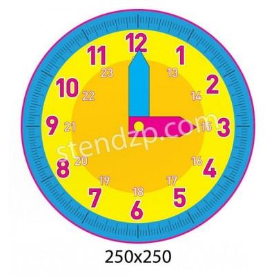 Стенд Изучаем время (желто-синий)