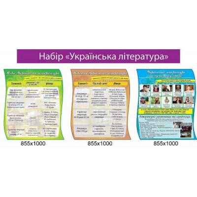 Набор стендов Украинская литература (яркий)