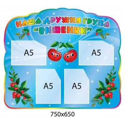 Візитка групи Вишеньки (кишені А5)
