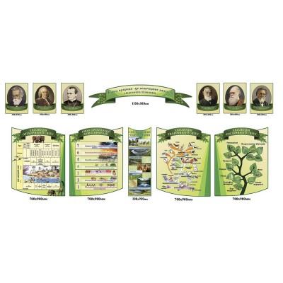 Комплект стендов в кабинет биологии (светло-зеленый)