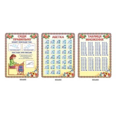 Комплект стендов для начальной школы (3 стенда)