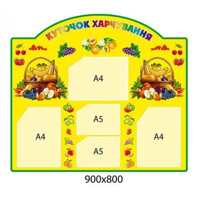 Стенд Уголок повара (желтый фон)