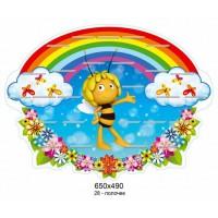 Подставка для выставки поделок Пчелка и бабочки