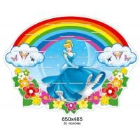 Подставка под лепку Принцесса под радугой