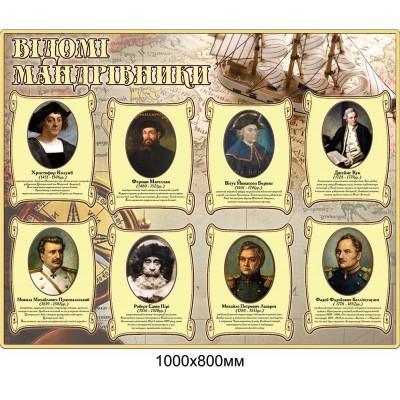 Стенд Известные путешественники (беж)