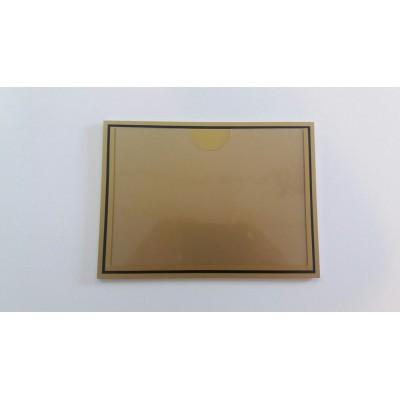 Табличка с карманом А5 (золотистая)