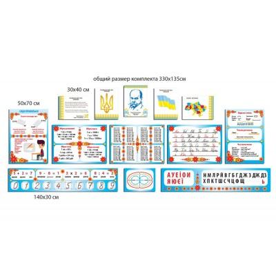 Набор стендов начальная школа (разноцветный)