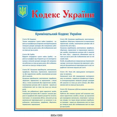 Стенд Кодекс Украины (голубой)