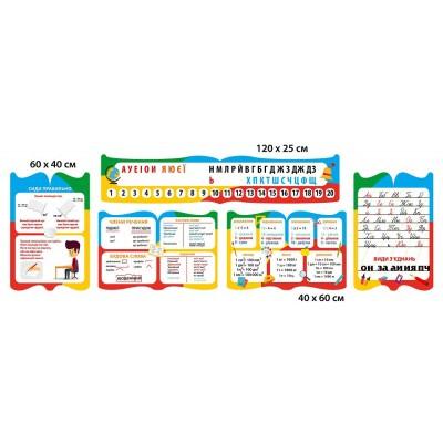 Комплект стендов для начальной школы (разноцветный)