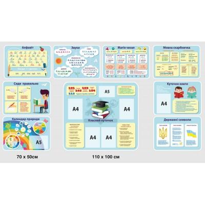 Набор стендов для початкової школи (светлые тона)